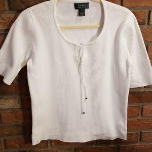Ralph Lauren White Cotton Top